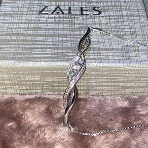 (FREE SHIPPING) Zales Sterling Silver Bracelet